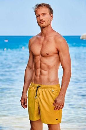 Żółte szorty kąpielowe David 52 Basic