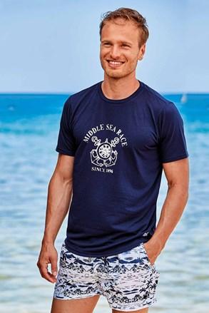 Ciemnoniebieski T-shirt Palm Tree