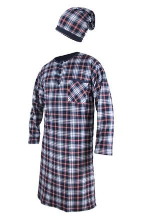 Męska koszula nocna ze szlafmycą CORNETTE Red