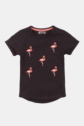Dziewczęcy T-shirt Flamingo