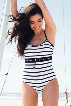 Jednoczęściowy damski kostium kąpielowy Sailor