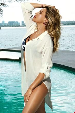 Plażowa koszulowa sukienka Patricia biała