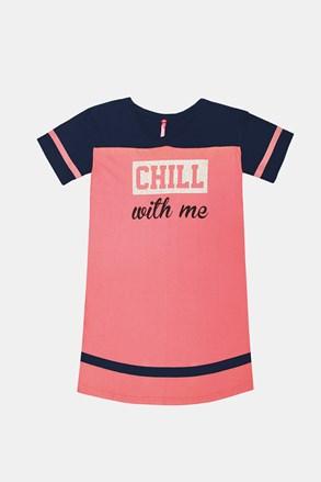 Dziewczęca koszula nocna Crew różowa