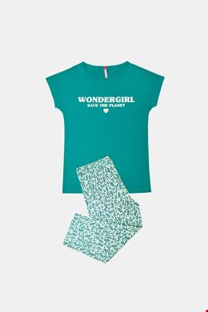 Dziewczęca piżama Save Planet zielona