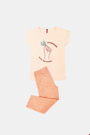 Dziewczęca piżama Save Planet pomarańczowa