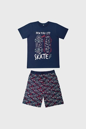 Chłopięca piżama Skate ciemnoniebieska