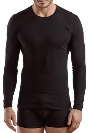 Męski T-shirt z długimi rękawami Enrico Coveri 1204 czarny