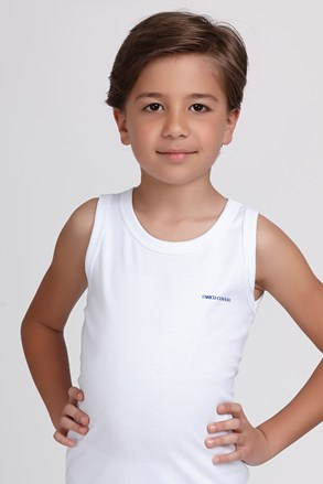 Podkoszulek  chłopięcy basic biały