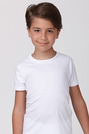 Bawełniany T-shirt chłopięcy biału
