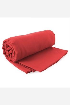 Komplet szybkoschnących ręczników Ekea czerwony