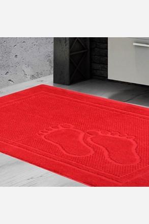 Dywanik łazienkowy Feet czerwony