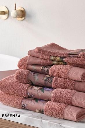 Ręcznik Essenza Home Fleur ciemnoróżowy