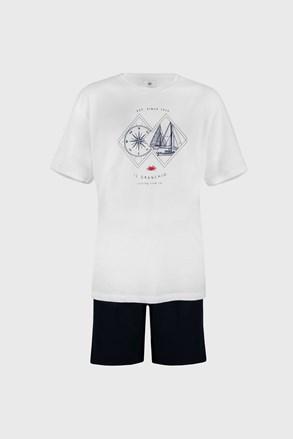 Biała piżama Sailing PLUS SIZE