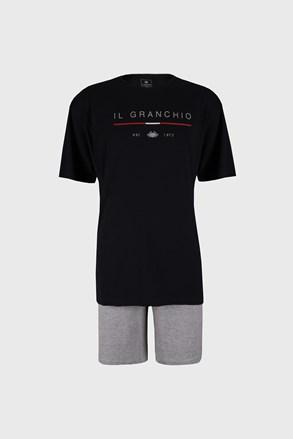 Granatowa piżama Trevon PLUS SIZE