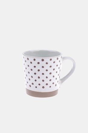 Ceramiczny kubek w kropki 450 ml
