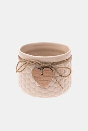 Ceramiczna doniczka beżowa