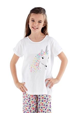 Dziewczęca piżama Polly długa biała