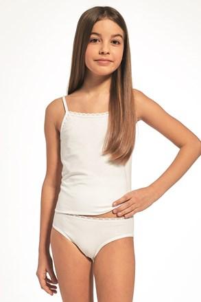 Dziewczęcy komplet: biała podkoszulka i figi
