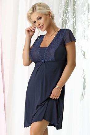 Damska koszulka nocna Kristel Navy Blue