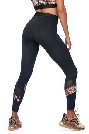 Damskie legginsy sportowe ze zwierzęcym motywem