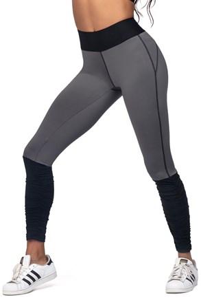 Damskie legginsy sportowe szaroczarne