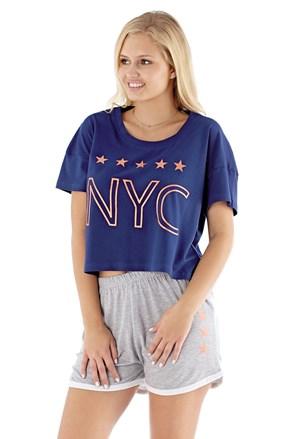 Damska piżama NYC navy