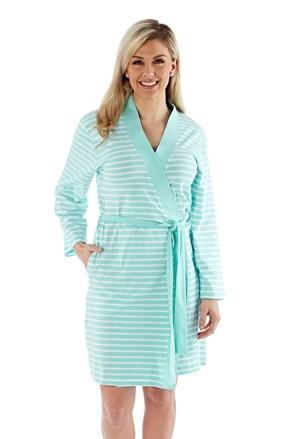 Damski bawełniany szlafrok Kimono miętowy