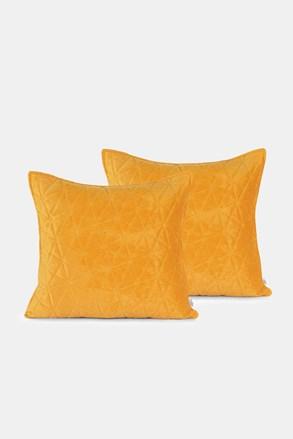Komplet 2 szt. poszewek na małe poduszki żółty