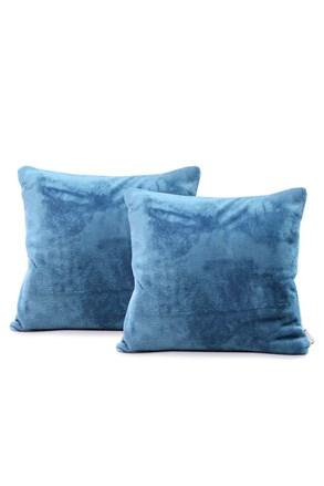 Komplet 2 poszewek na poduszki niebieski