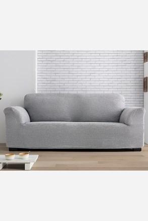 Pokrowiec na dwuosobową sofę Milos jasnoszary