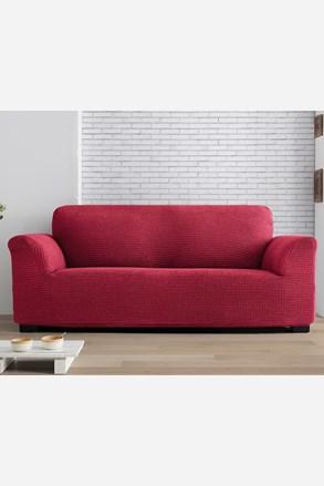 Pokrowiec na dwuosobową sofę/kanapę Milos czerwony