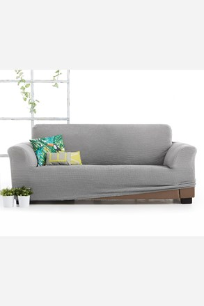 Pokrowiec na trzyosobową sofę Milos jasnoszary