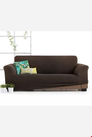 Pokrowiec na trzyosobową sofę Milos brązowy