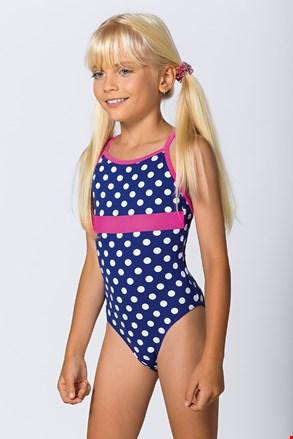 Jednoczęściowy dziewczęcy kostium kąpielowy Dots