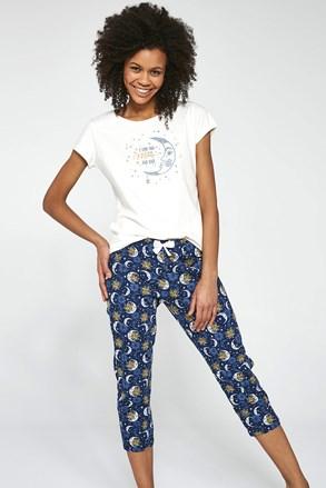 Trzyczęściowy damski komplet piżamowy To the Moon