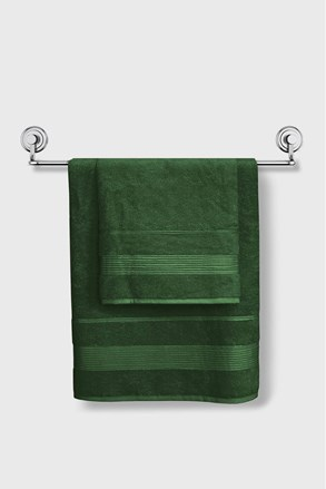 Ciemnozielony ręcznik bambusowy Moreno
