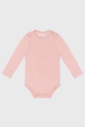 Dziewczęce niemowlęce body z długim rękawem Baby różowe