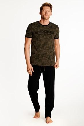 Brązowo-czarna piżama Okay