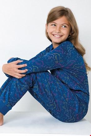 Dziewczęca piżama Jednorożec niebieska