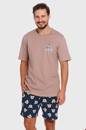 Beżowo-niebieska piżama Bear