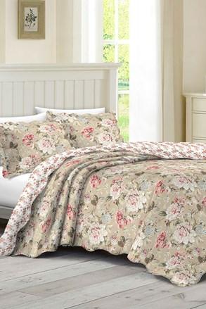 KOMPLET: narzuta na łóżko dwuosobowe i dwie poduszki
