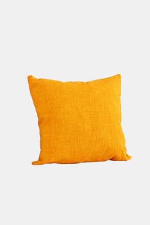 Poduszka dekoracyjna z wypełnieniem żółta