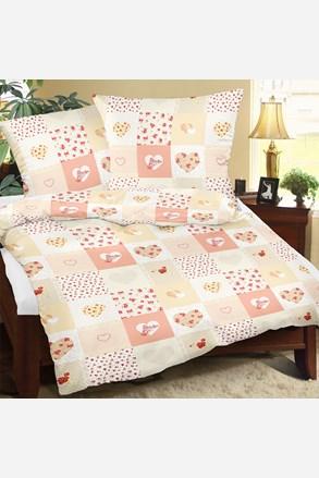 Krepowa pościel Love pomarańczowa