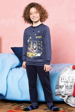 Chłopięca piżama Race niebieska