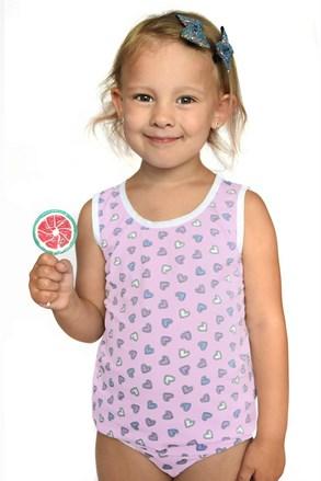 Dziewczęcy komplet: figi i podkoszulka Hearts