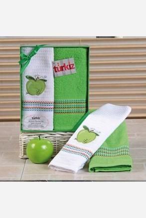 Komplet prezentowy: ręcznik i ścierka kuchenna Mimosa jabłko