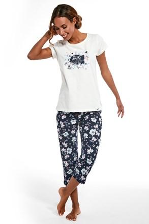 Damski trzyczęściowy komplet piżamowy Smile