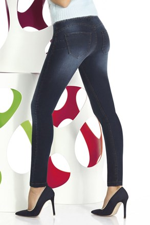 Damskie legginsy z dżinsowym wzorem Timea