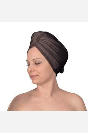 Turban do włosów szary