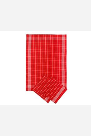 Komplet bawełnianych ścierek kuchennych czerwony